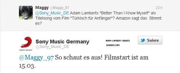 #1110 Better Than I Know Myself fera partit du film allemand Türkisch für Anfänger.
