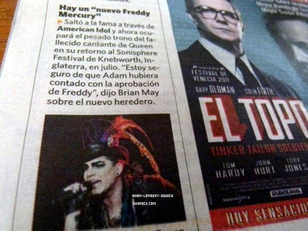 #1115 Adam dans le journal Clarin (Argentine). (23.02.12)