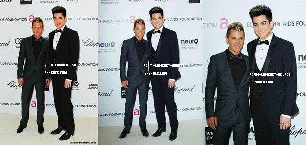 """#1120 Adam était au """"20th Elton John AIDS Foundation Academy Awards Viewing Party"""". (26.02.12)"""