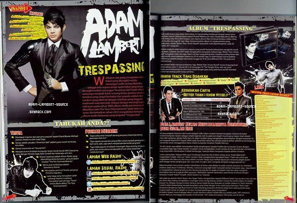 #1122 Adam dans le magazine E-Ring (Malaysie). (Mars 2012)