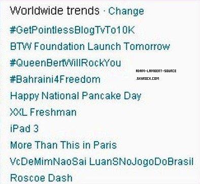 #1128 #QueenBertWillRockYou en tendance mondiale sur Twitter!