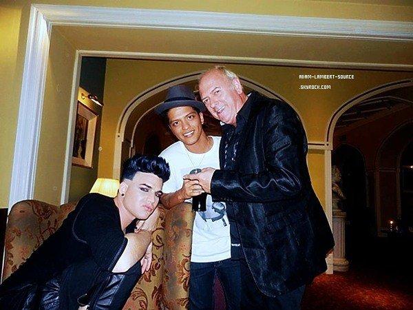 #1137 Nouvelle photo d'Adam et Bruno Mars au MTV EMA