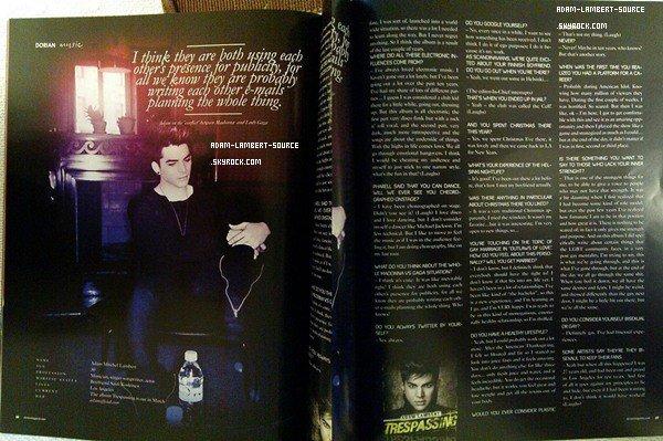#1169 Magazine Dorian - Printemps 2012 (Suède) + Magazine Star Système (Canada)