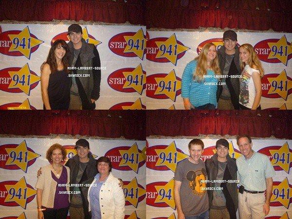 #1201 Adam en performance au Star 94.1 FM, à San Diego + Meet & Greet. (30.03.12)