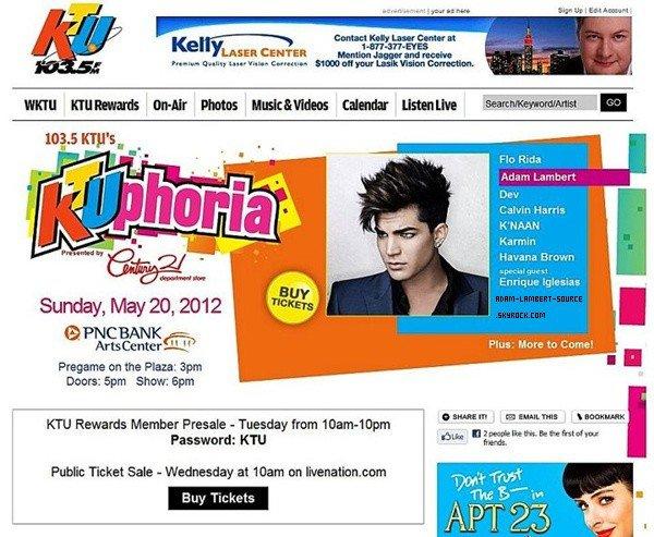 #1206 Adam sera au KTU-Phoria 2012, le 20 mai prochain!