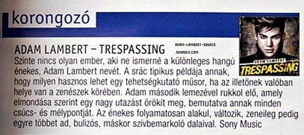 #1235 Article du magazine Joy (Hongrie).