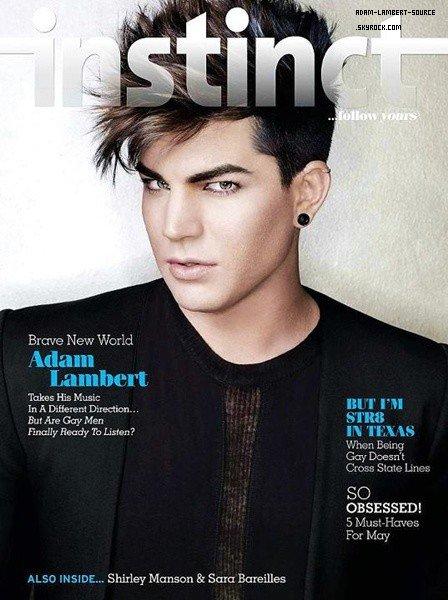 #1259 Adam en couverture du magazine Instinct.