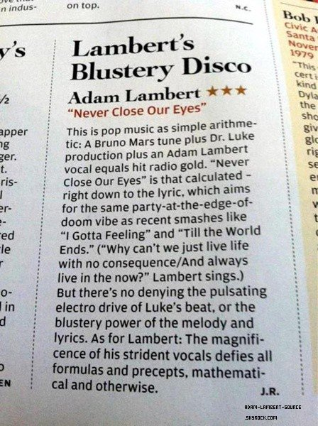 #1261 Review de NCOE dans le Rolling Stone + Magazine Inflight (Japon)