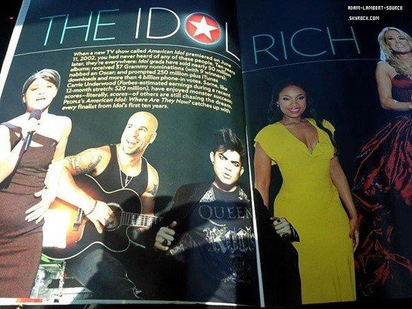 #1275 Adam dans le People Magazine, spécial American Idol + Magazine The Idol Rich