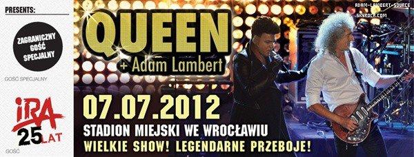 #1276 Adam et Queen feront un concert le 7 juin prochain en Pologne!