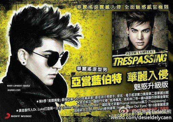 #1299 Nouvelle affiche promotionnel pour Trespassing en Taiwan.