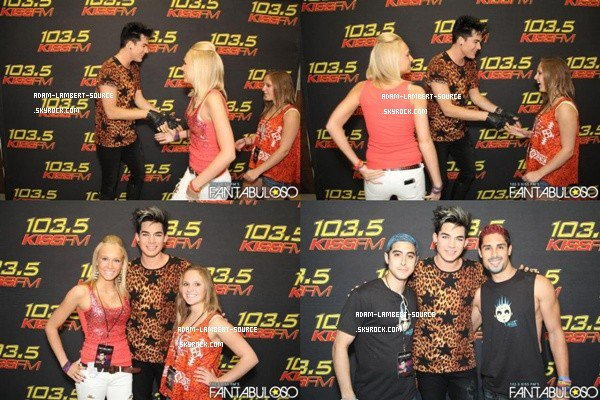 #1326 Adam était au KISS 103.5 FM Fantabuloso à Chicago. (18.05.12)
