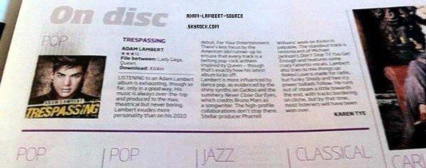 #1329 Review de Trespassing dans le Sunday Herald Sun. (Australie)