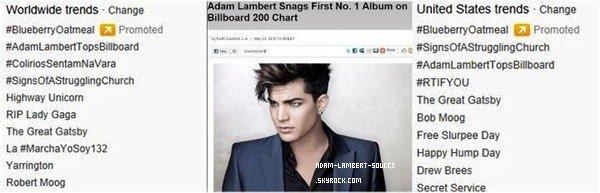 #1337 Trespassing au #1 de Billboard 200 chart!