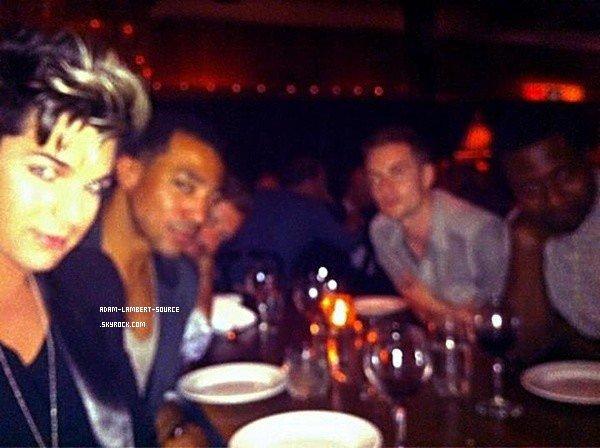 #1338 Photo/Tweet par Adam: Eu un bon repas avec mes meilleurs amis à New York au Marble Lane à l'Hotel Dream!
