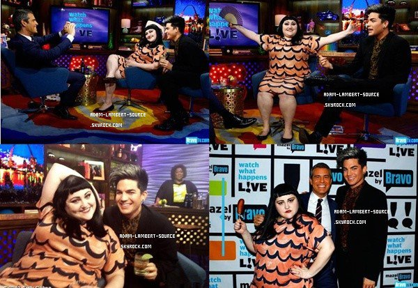 #1343 Adam et Beth Ditto au Watch What Happens Live Bravo. (24.05.12)
