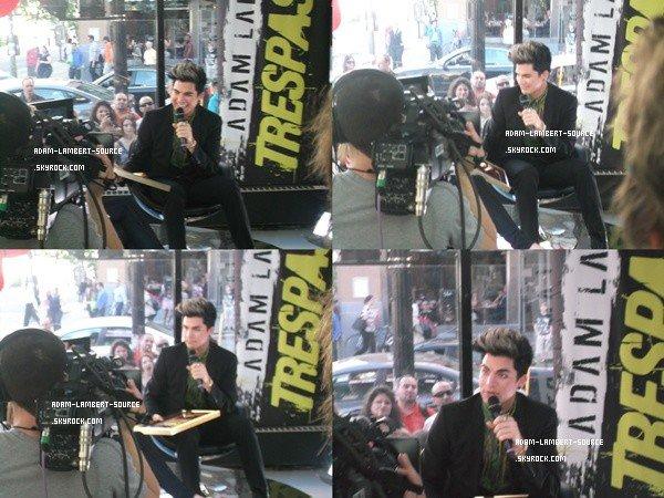 #1349 Adam en interview dans les studios de MusiquePlus. (30.05.12)