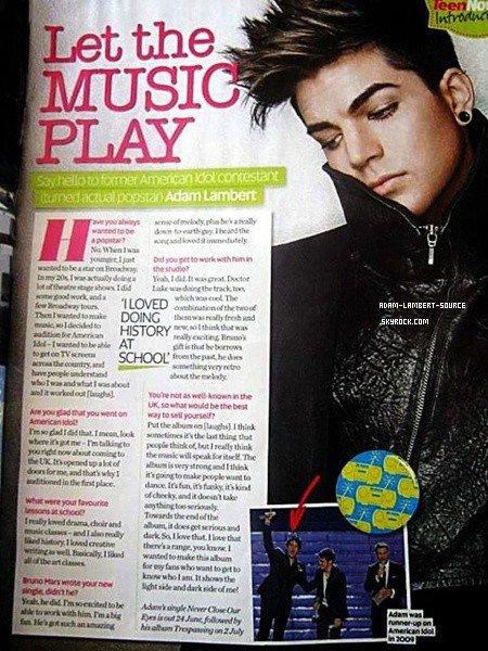 #1356 Adam en couverture du The Rainbow Times.