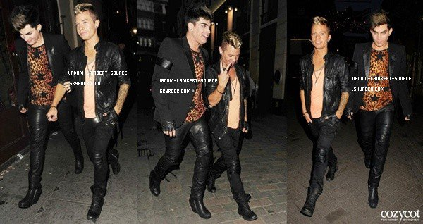 #1377 Adam et Sauli quittaient le Cirque Du Soir Club, à West London. (09.06.12)