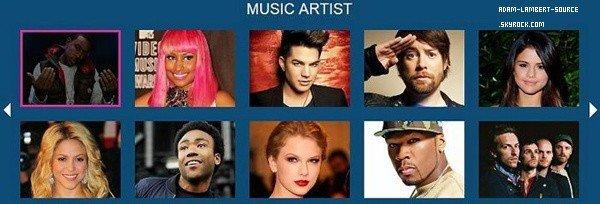 #1385 Nominé Adam au Do Something Awards 2012
