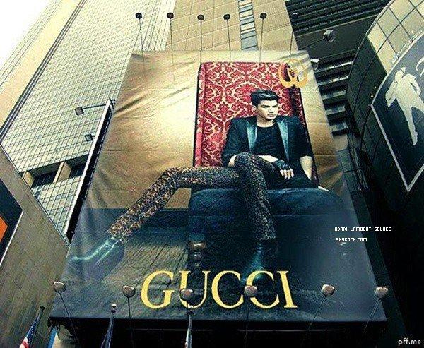 #1387 Adam sur une affiche publicitaire pour Gucci (Irlande).