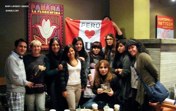 #1393 Quelques photos du rassemblement de fans au Pérou.