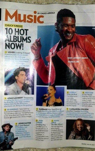 #1430 Trespassing dans la rubrique Hot Album du magazine People.