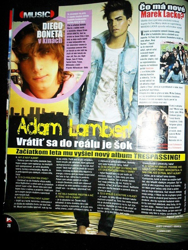 #1481 Adam dans un guide de divertissement.
