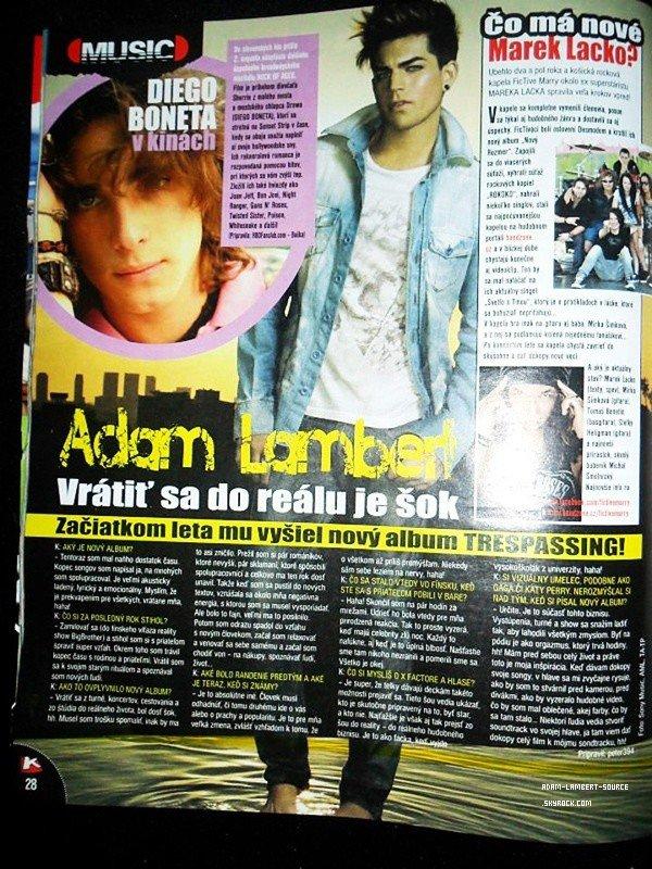 #1481 Adam dans un guide de divertissement.