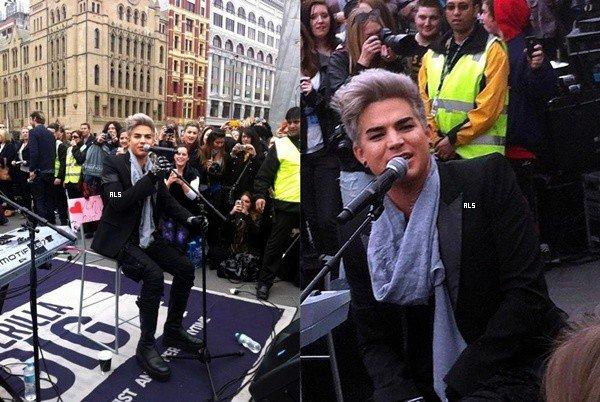 #1491 Adam était en prestation au Channel V Guerrilla Gig, à Melbourne, Australie. (26.08.12)