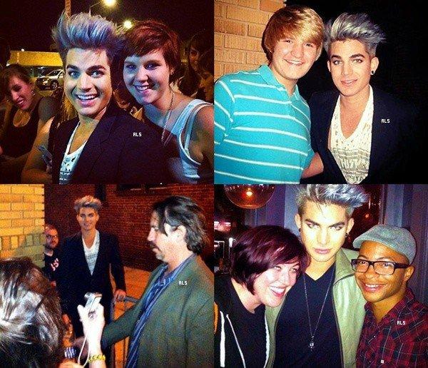 #1507 (FANPICS) Adam avec des fans au Maryland Marriage Equality, à Washington DC. (25.09.12)