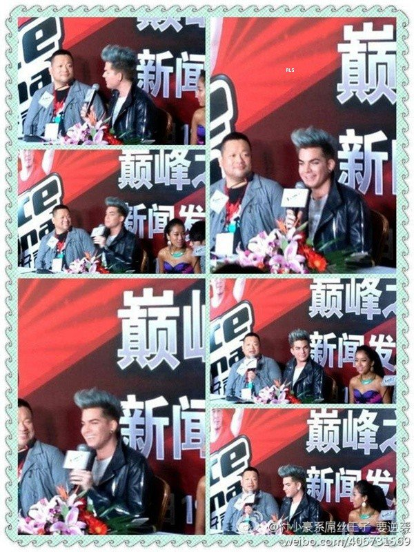 #1514 Adam au Press Party pour The Voice, en Chine. (29.09.12)