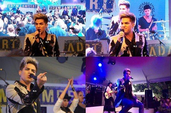 #1536 (FANPICS + FANVIDS) Adam en concert au Racing Club - Caulfield Guineas, à Melbourne en Australie. (13.10.12)