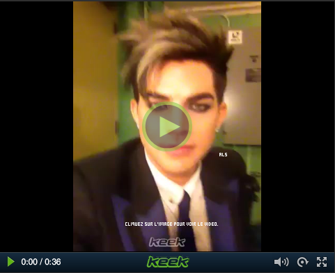 #1553 Adam partage son premier vidéo sur le site Keek, Let's Get Keeky.