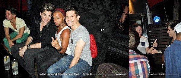 #1559 Adam a été vu au Crew Bar, à Cape Town. (15.11.12)
