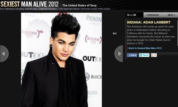 #1561 Adam est nommé l'homme le plus sexy d'Indiana selon le People Magazine