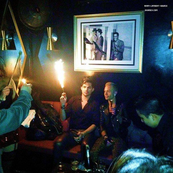 #1602 Adam célébrant son anniversaire au Bootsy Bellows à [West Hollywood.
