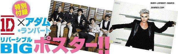 #1608 Apperçu du magazine INROCK, Japon. (Il y aura 6 pages avec Adam!)