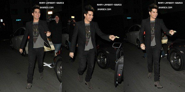 #1612 Adam sortant de son birthday party à West Hollywood. (28.01.13)