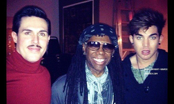 #1615 Adam, Sam Sparro et Nile Rodgers aux pratiques des 'We Are Family Fondation Gala. (30.01.13)