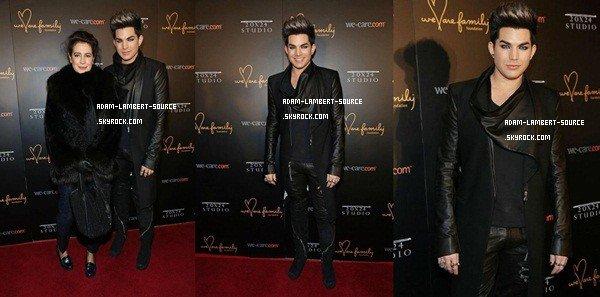 #1619 Adam au tapis rouge du We Are Family Foundation Gala, au Hammerstein Ballroom à New York. (31.01.13)