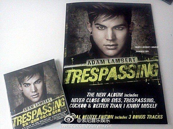 #1625 Trespassing sortira en Chine le 20 février prochain. Il comprendra 15 chansons et un dossier Trespassing.