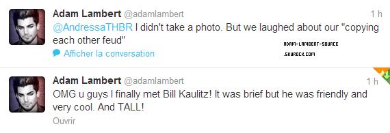 #1632 Adam a finalement rencontré Bill Kaulitz de Tokio Hotel!