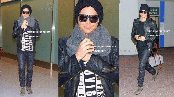 #1642 Adam arrivant à Tokyo, à l'aéroport Narita International Airport. (18.02.13)