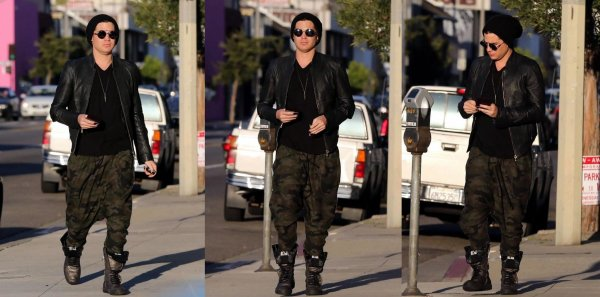 #1691 Adam a été vu à West Hollywood, en Californie. (09.04.13)
