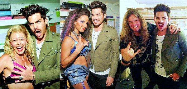 #1716 Adam était dans les backstages de Rock of Ages Musical. (16.06.13)