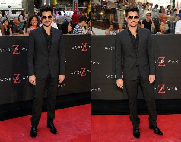 #1717 Adam était à l'avant première du film World War Z, à New York. (16.06.13)