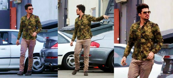 #1732 Adam a été vu au M Cafe, à West Hollywood. (10.07.13)
