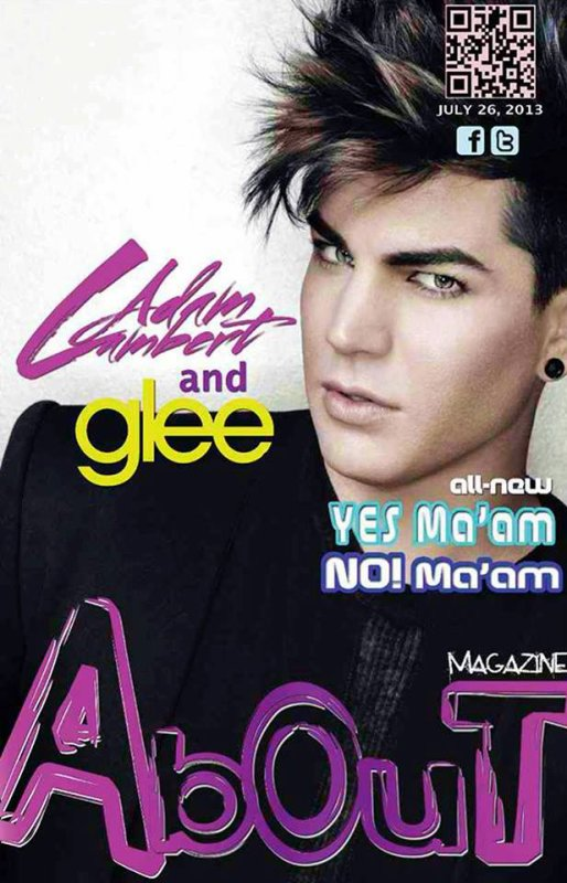#1739 Adam sur la couverture du About Magazine. (26.07.13)