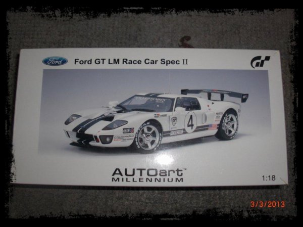 GT5 Ford GT LM Race Car Spec II, 1/18 Autoart